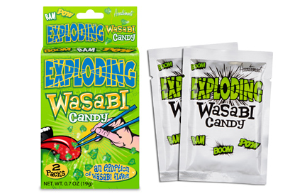 Exploding Wasabi Candy