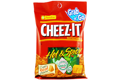 Cheez-It Hot & Spicy Tabasco (85g) (Box of 6)
