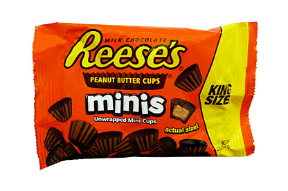 Reese's Mini Peanut Butter Cups (king size bag) (Box of 16)