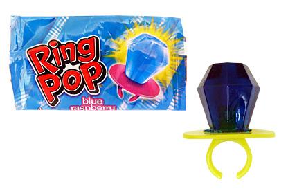 Ring pop blue raspberry