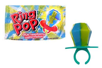 Blue Raspberry Watermelon Ring Pop