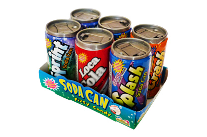 Soda Can Fizzy Candy 6pk (42g)