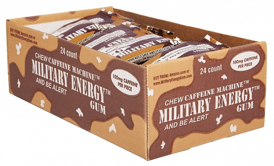 Cinnamon Military Energy Gum (Box of 24)