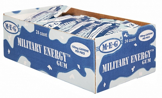 Arctic Mint Military Energy Gum (Box of 24)