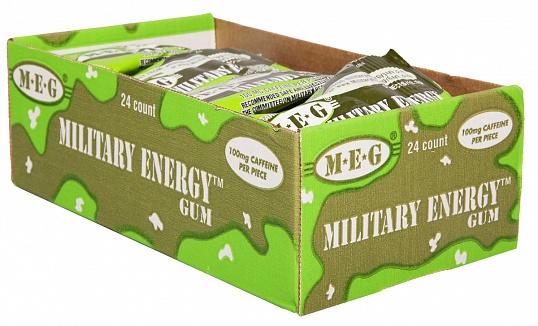 Spearmint Military Energy Gum (Box of 24)