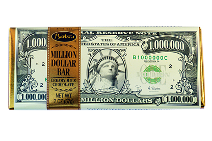 Million Dollar Chocolate Bar (Box of 12)