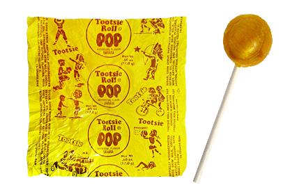Banana Tootsie Pop