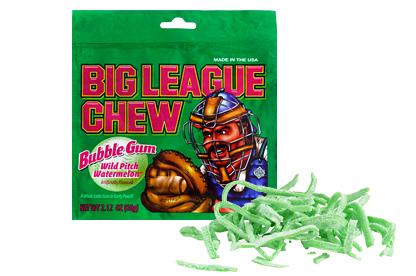 Watermelon Big League Chew Bubble Gum (Box of 12)