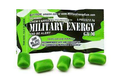 Spearmint Military Energy Gum