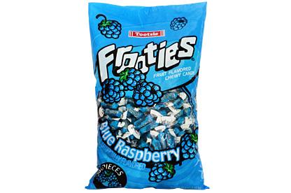 Blue Raspberry Tootsie Frooties 360ct (1.1kg) Bag