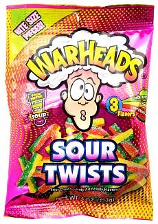 Warheads Sour Twists (12 x 113g)