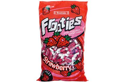 Strawberry Tootsie Frooties 360ct (1.1kg) Bag