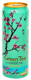 Arizona Green Tea with Ginseng and Honey (680ml) (Case of 24)