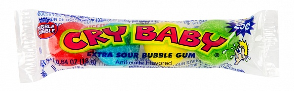 Cry Baby Extra Sour Bubble Gum (4pc) (12 x 36ct)