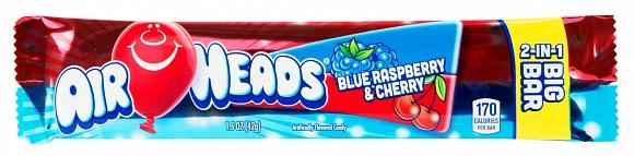 Airheads Blue Raspberry & Cherry 2-in-1 Big Bar (12 x 24ct)
