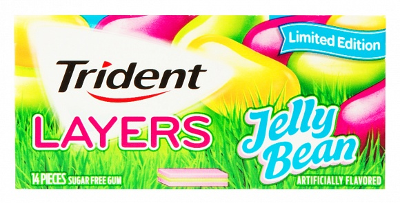 Trident Layers Jelly Bean Gum (Box of 12)