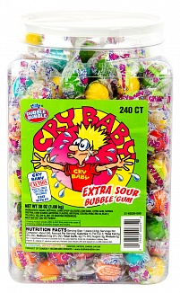 Cry Baby Extra Sour Bubble Gum (240ct)