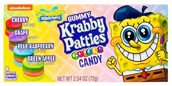 Spongebob Squarepants Gummy Krabby Patties Colors (12 x 72g)