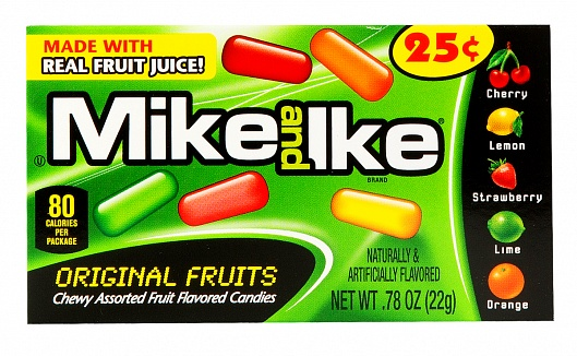 Mike and Ike Original Fruits Minis (Box of 24)