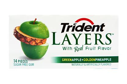 Trident Layers Green Apple & Golden Pineapple Gum