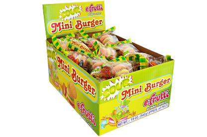 Gummi Sour Mini Burgers (Box of 60)