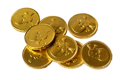 Golden Pirate Chocolate Coins (125g)