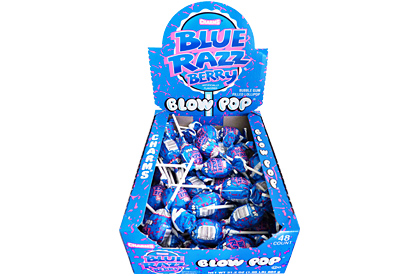 Blue Razz Berry Blow Pops (Box of 48)