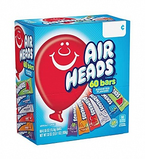 Airheads Assorted Bars 60 Pack (936g)