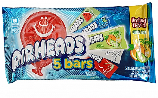 Airheads Assorted Flavours 5 Bar Pack (78g)