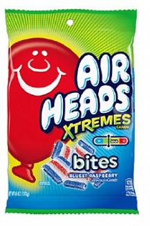 Airheads Xtreme Bites Blue Raspberry Peg Bag (12 x 170g)