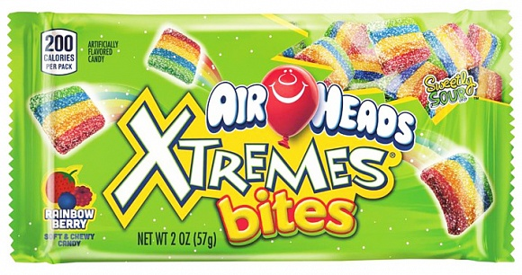 Airheads Xtremes Sour Rainbow Berry Bites (Box of 18)