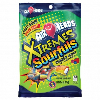 Airheads Xtremes Sourfuls Rainbow Berry (12 x 170g)
