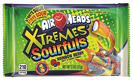 Airheads Xtremes Sourfuls Rainbow Berry (8 x 18 x 57g)