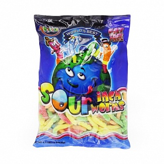 Albanese Sour Inch Worms (4 x 2.02kg)