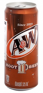 A&W Root Beer (325ml) (Case of 24)