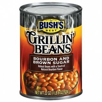 Bush's Best Grillin' Beans Bourbon and Brown Sugar (12 x 624g)