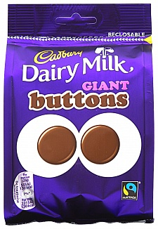 Cadbury Dairy Milk Giant Buttons (10 x 119g)