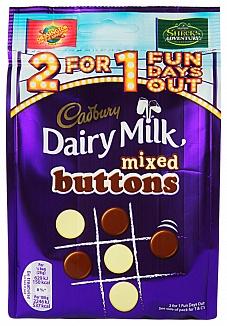Cadbury Dairy Milk Mixed Buttons (10 x 115g)