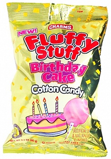 Charms Fluffy Stuff Birthday Cake Candy Floss (60g) (Case of 24)