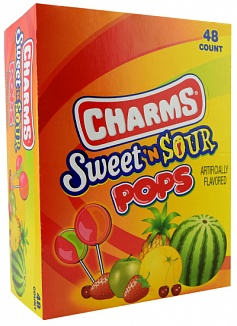 Charms Sweet 'N Sour Pops (Box of 48)