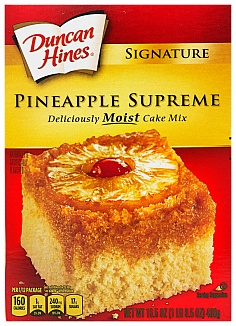 Duncan Hines Signature Pineapple Cake Mix (Case of 12)