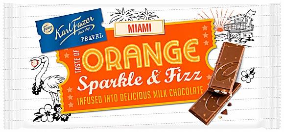 Fazer Miami Orange Sparkle & Fizz Milk Chocolate
