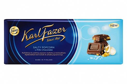 Fazer Milk Chocolate with Salty Popcorn (200g)