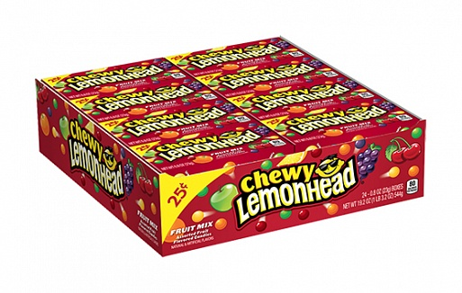 Chewy Lemonhead Fruit Mix Candy (23g) (Box of 24)