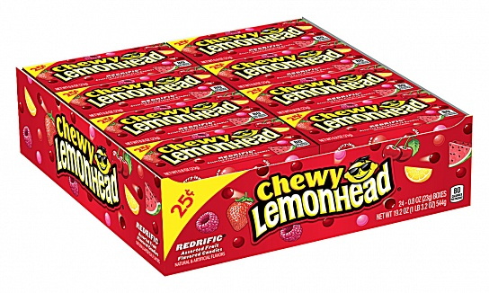 Chewy Lemonhead Redrific (23g) (Box of 24)