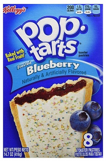 Frosted Blueberry Pop-Tarts (12 x 8 pastries)