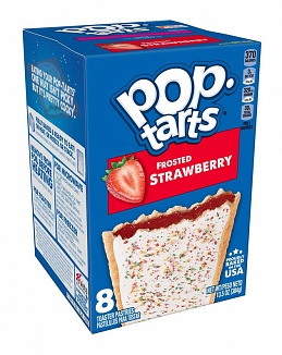 Frosted Strawberry Pop-Tarts (12 x 8 pastries)