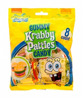 Spongebob Squarepants Gummy Krabby Patties Bag (12 x 72g)