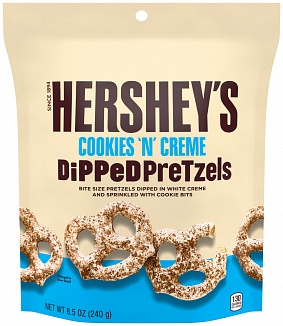 Hershey's Cookies 'n' Creme Dipped Pretzels (6 x 241g)