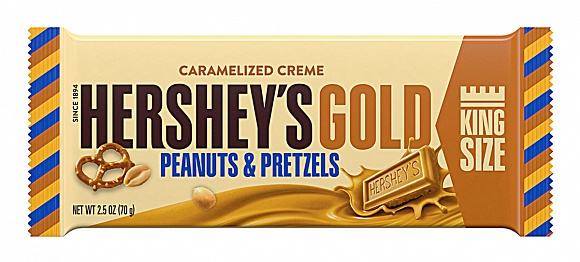 Hershey's Gold with Peanuts and Pretzels (King Size) (Case of 18)